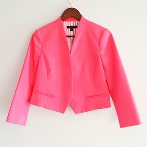 NWT Ann Taylor open front crop pink blazer size 6